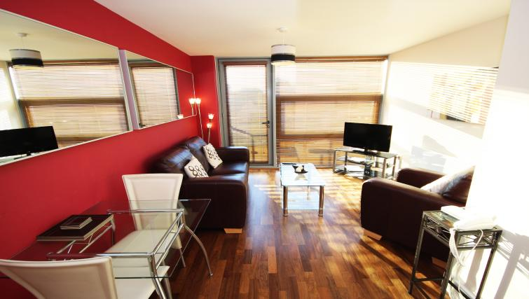Bright living area at Lime Square Apartments - Citybase Apartments