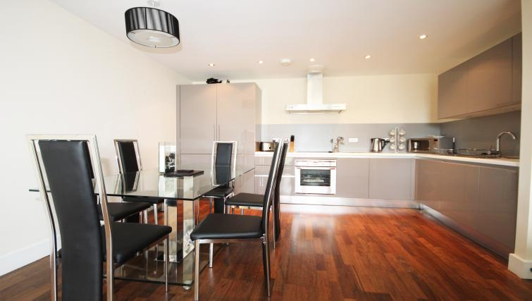 Fully equipped kitchen at Lime Square Apartments - Citybase Apartments
