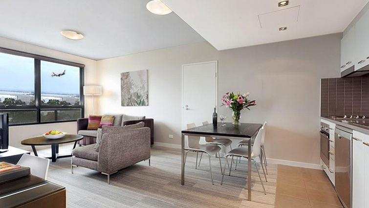 Living area at Quest Mascot - Citybase Apartments