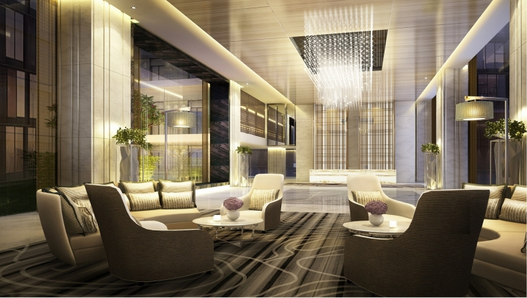 Communal Lounge area at Ascott Heng Shan Apartments - Citybase Apartments