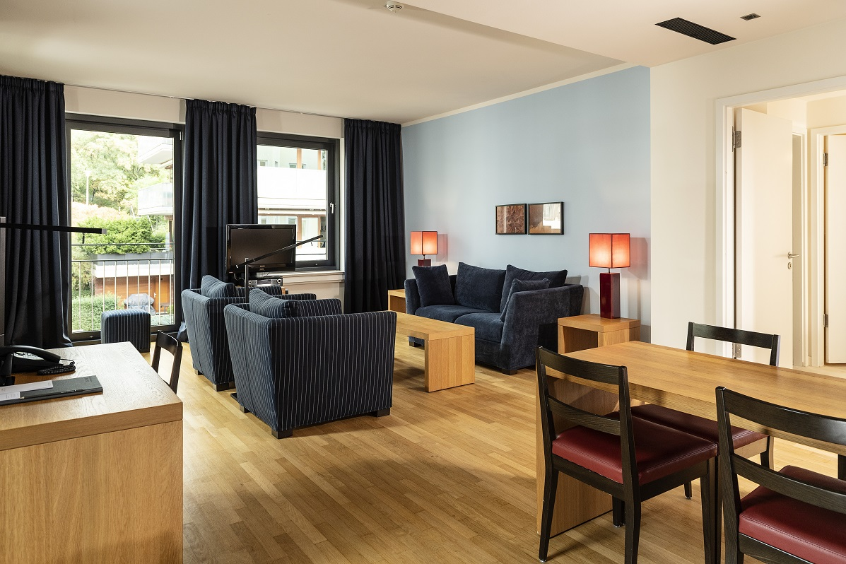 Living rooms at Clipper Elb Lodge - Citybase Apartments