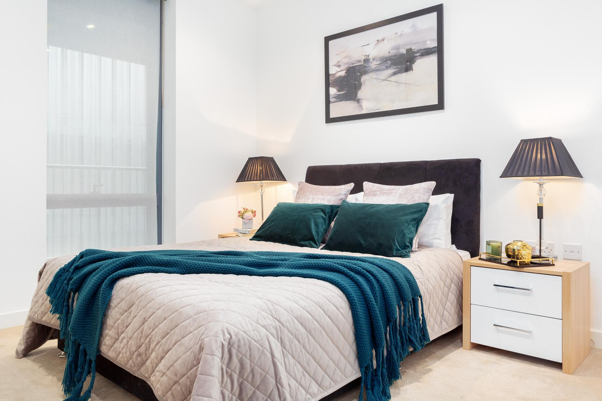 Double bed at Lexicon Book House Apartments - Citybase Apartments
