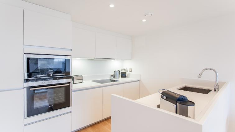 Kitchen at Quartermile Simpson Apartments - Citybase Apartments
