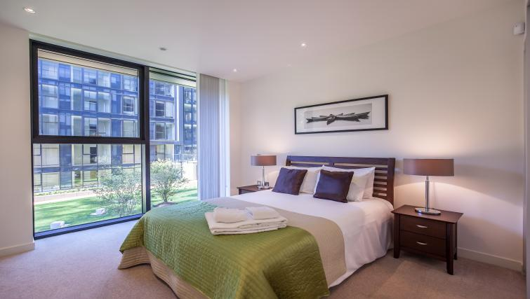Double bedroom at Quartermile Simpson Apartments - Citybase Apartments