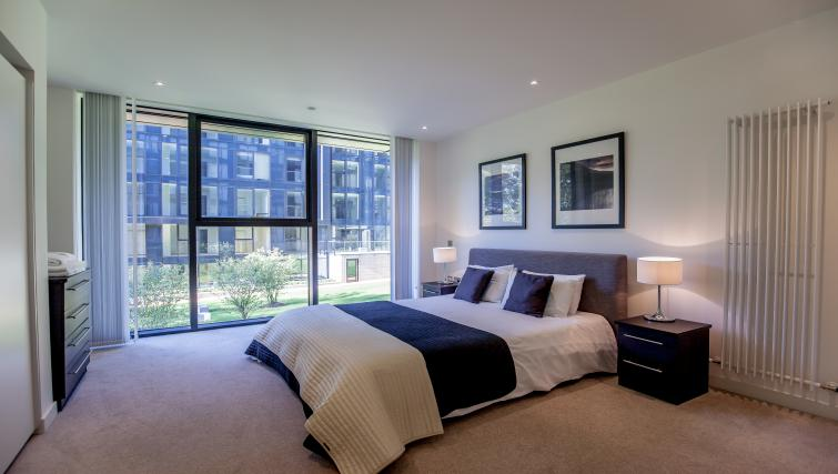 Bed at Quartermile Simpson Apartments - Citybase Apartments