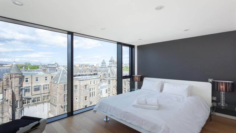 Double bed at Quartermile Simpson Apartments - Citybase Apartments