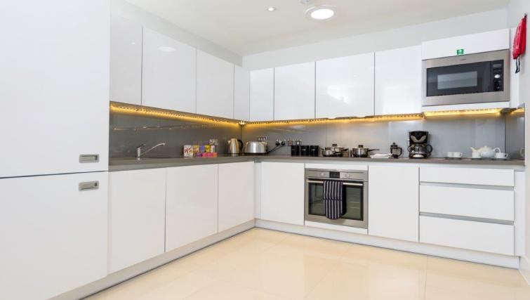 Fully equipped kitchen at Milestone Apartments - Citybase Apartments