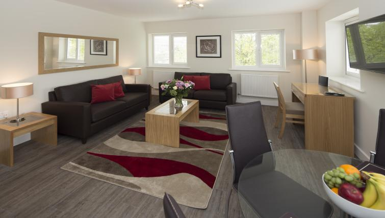 Living area at Beneficial House Apartments - Citybase Apartments