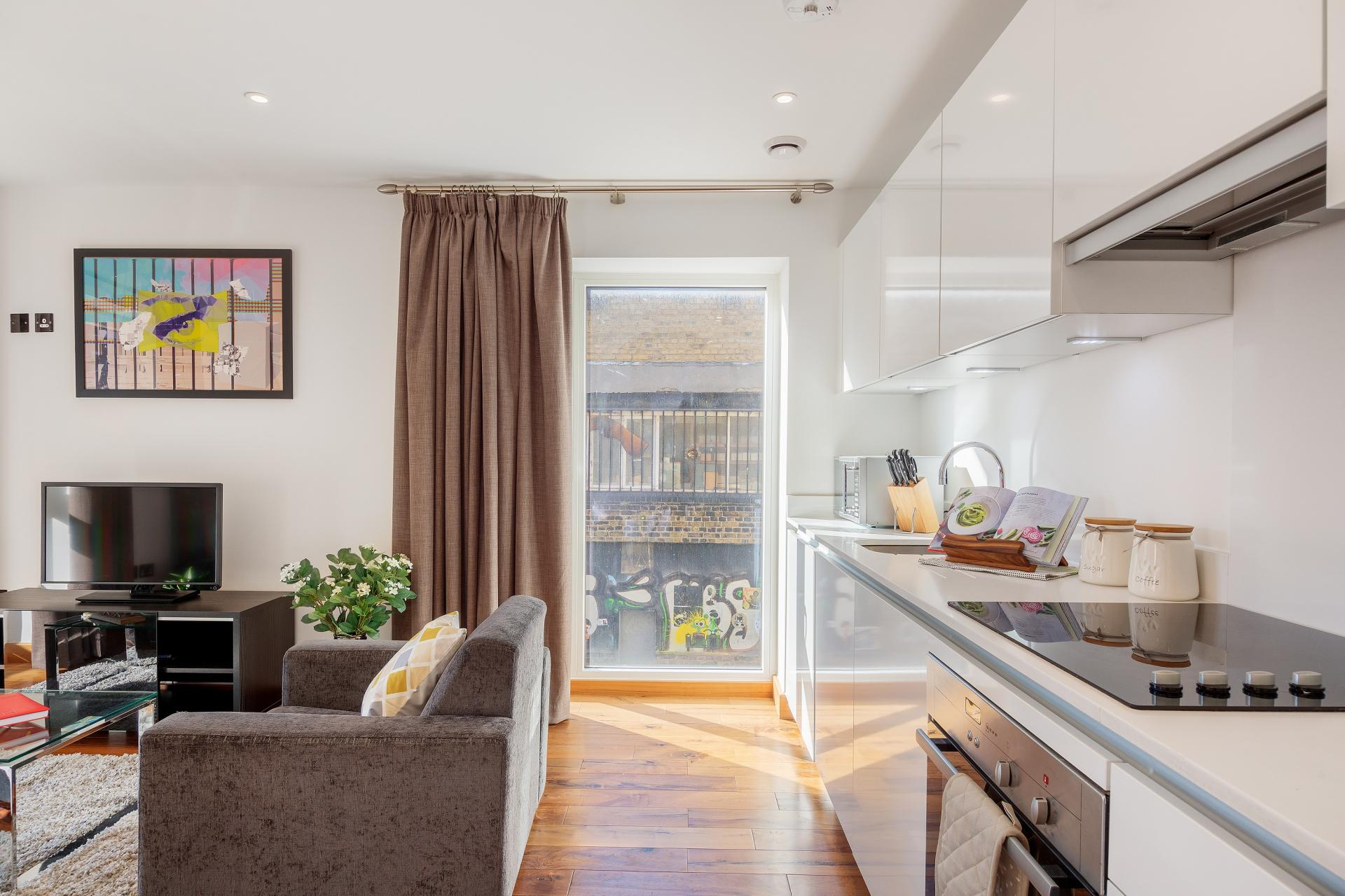 Kitchen at Shoreditch Square Apartments - Citybase Apartments
