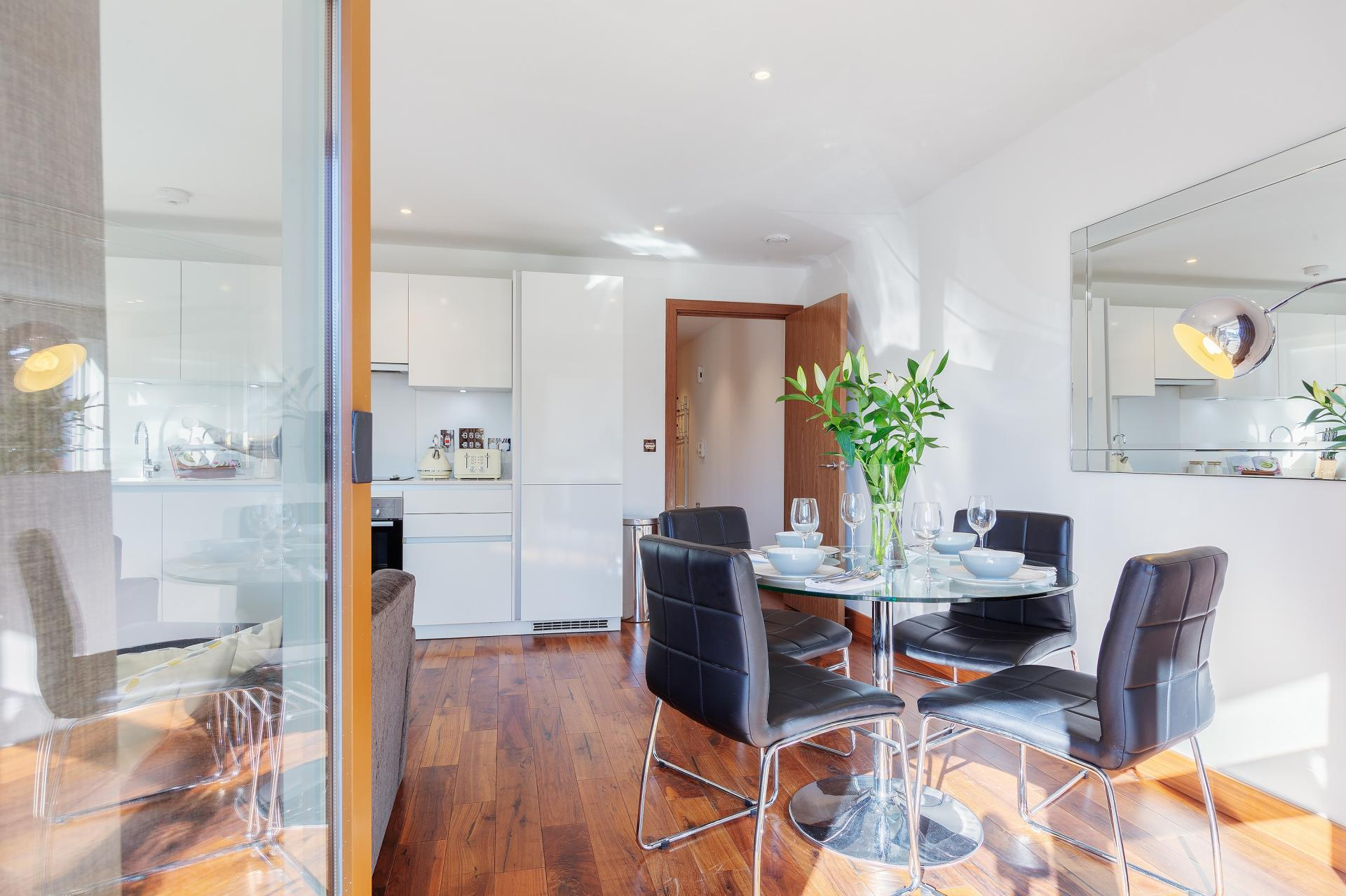 Bright living area at Shoreditch Square Apartments - Citybase Apartments