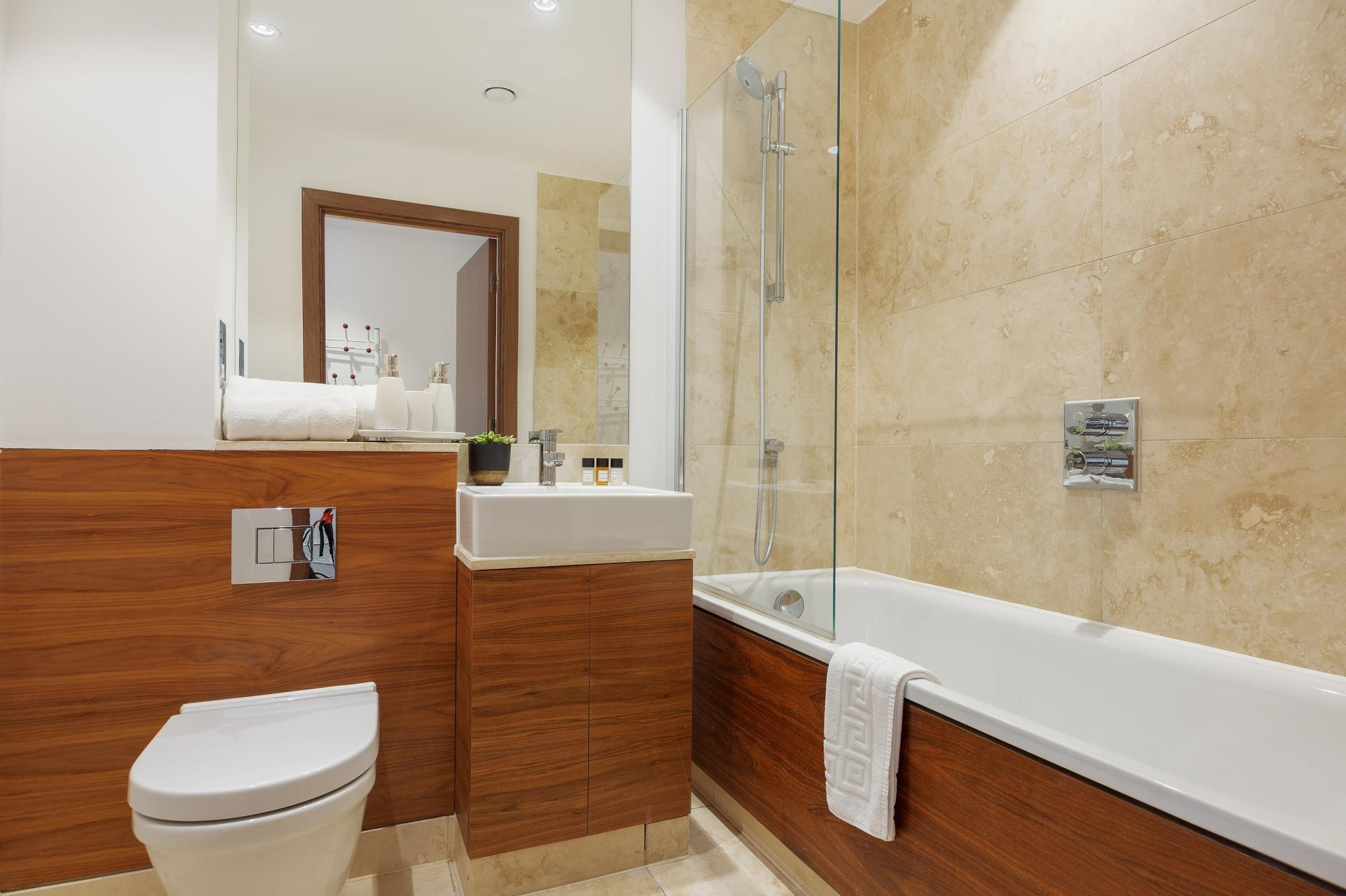 Bathroom at Shoreditch Square Apartments - Citybase Apartments
