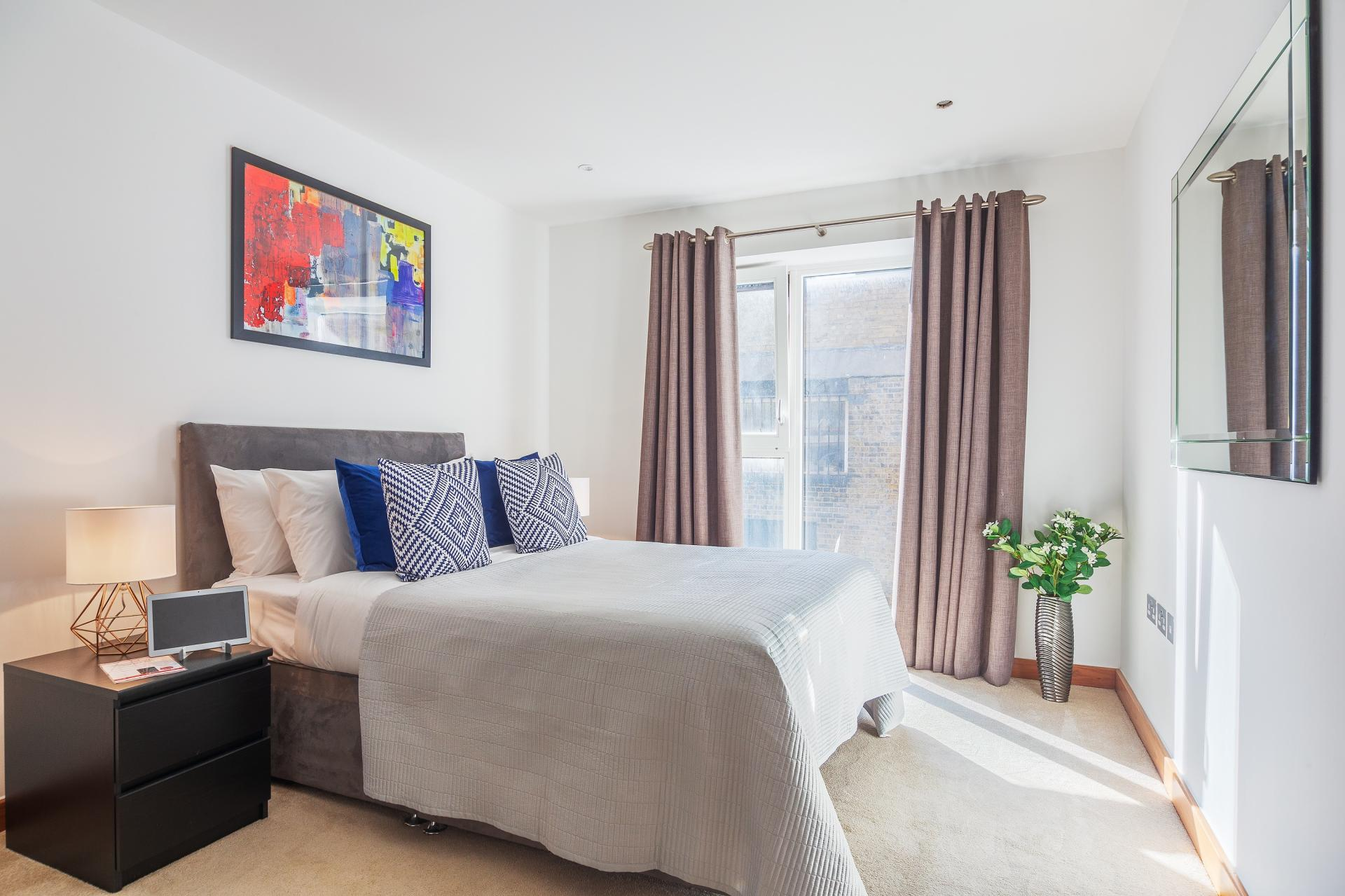 Bedroom at Shoreditch Square Apartments - Citybase Apartments
