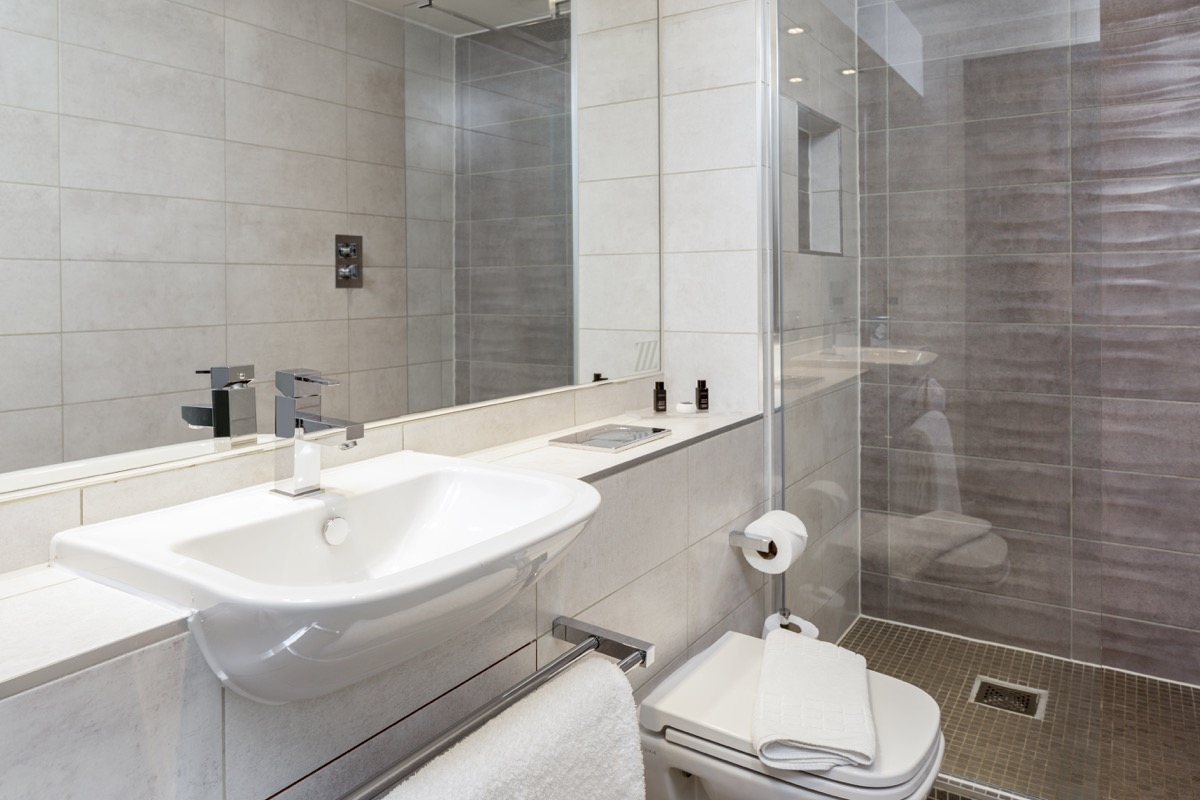 Bathroom at Roomzzz Chester City Apartments - Citybase Apartments