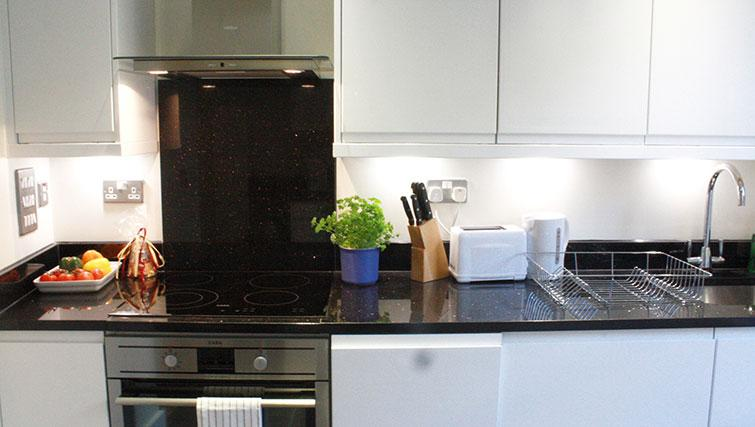 Equipped kitchen at Artillery Lane Apartments - Citybase Apartments
