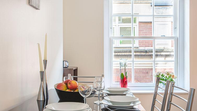 Dining space at Artillery Lane Apartments - Citybase Apartments