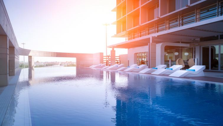 Outdoor pool at Adagio Abu Dhabi Al Bustan - Citybase Apartments