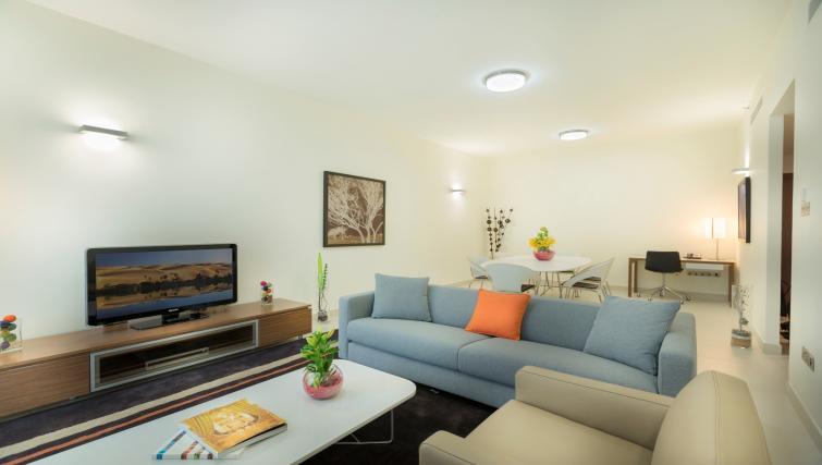Living room at Adagio Abu Dhabi Al Bustan - Citybase Apartments