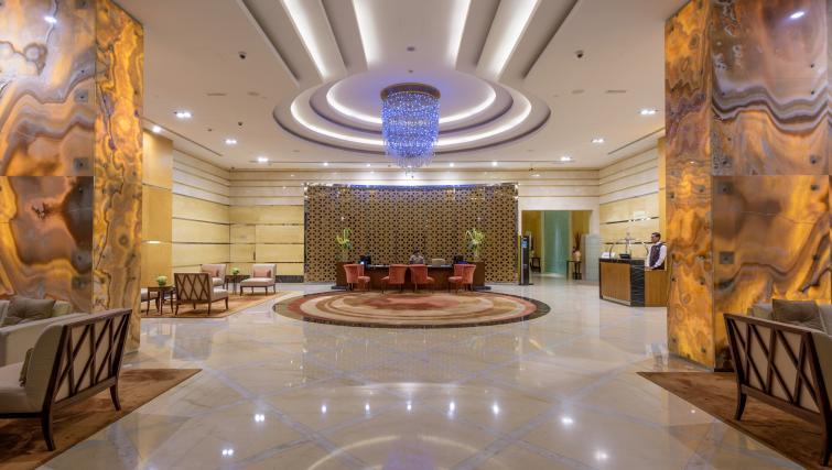 Communal lobby area at Fraser Suites Dubai - Citybase Apartments