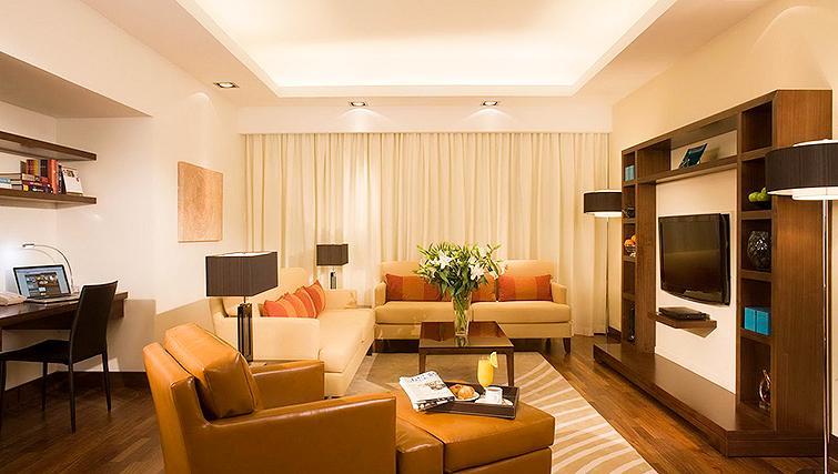 Spacious living area at Fraser Suites Dubai - Citybase Apartments