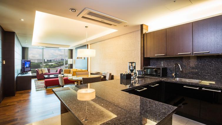 Fully equipped kitchen at Marriott Executive Apartments Yeouido Park Centre - Seoul - Citybase Apartments