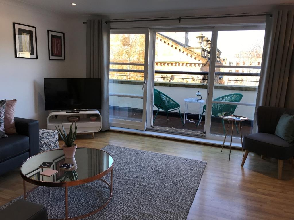 Balcony at St Andrew Square Apartments - Citybase Apartments