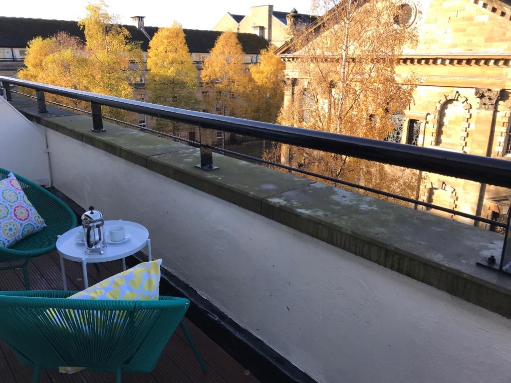 Outside terrace at St Andrew Square Apartments - Citybase Apartments