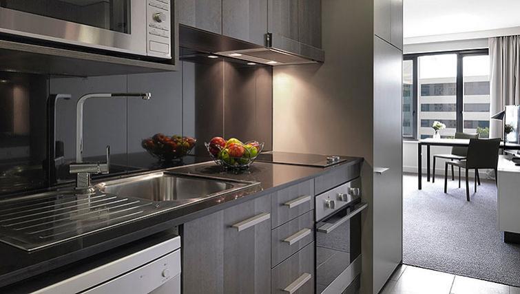 Basic kitchen at Adina Apartment Hotel Sydney Airport - Citybase Apartments