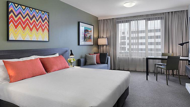 Spacious living area at Adina Apartment Hotel Sydney Airport - Citybase Apartments