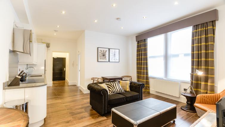 Living area at Native St Pauls Apartments - Citybase Apartments