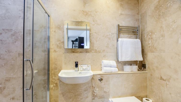 Studio bathroom at Native St Pauls Apartments - Citybase Apartments
