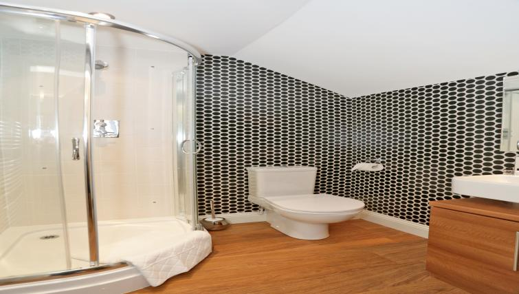 Shower room at 1A Golden Square Apartments - Citybase Apartments