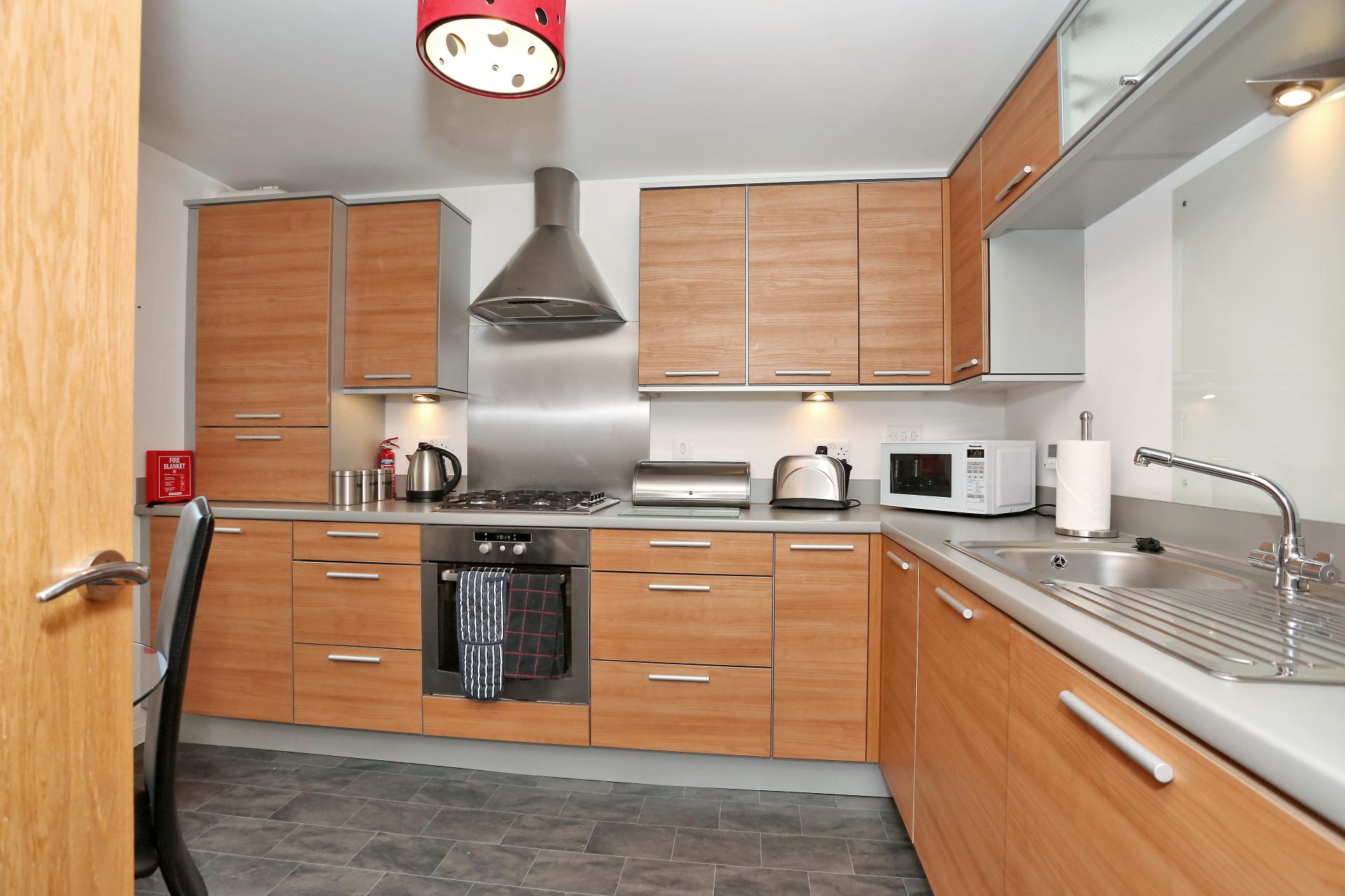 Kitchen facilities at The Dee Village Apartment - Citybase Apartments