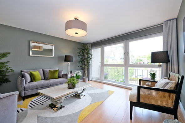 Lounge at Kepplestone Apartments, Mannofield, Aberdeen - Citybase Apartments