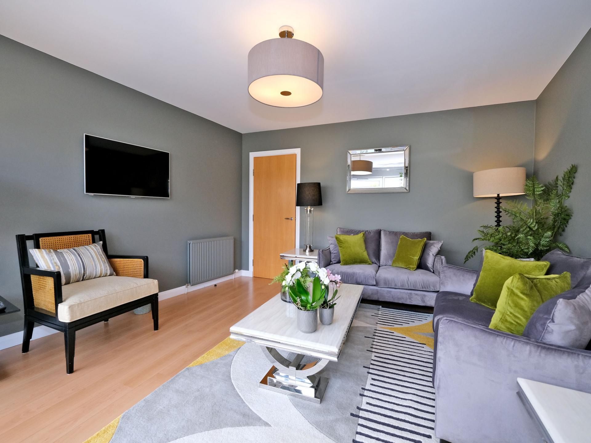Living room at Kepplestone Apartments, Mannofield, Aberdeen - Citybase Apartments