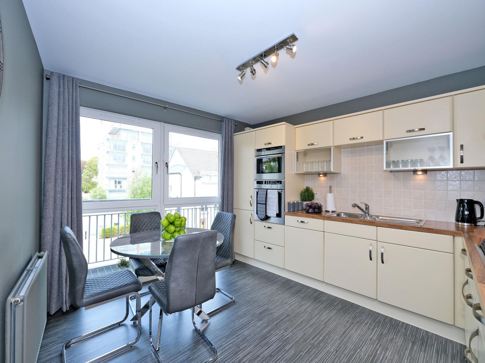 Kitchen at Kepplestone Apartments, Mannofield, Aberdeen - Citybase Apartments