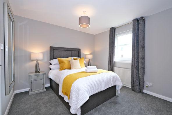 Master bedroom at Kepplestone Apartments, Mannofield, Aberdeen - Citybase Apartments