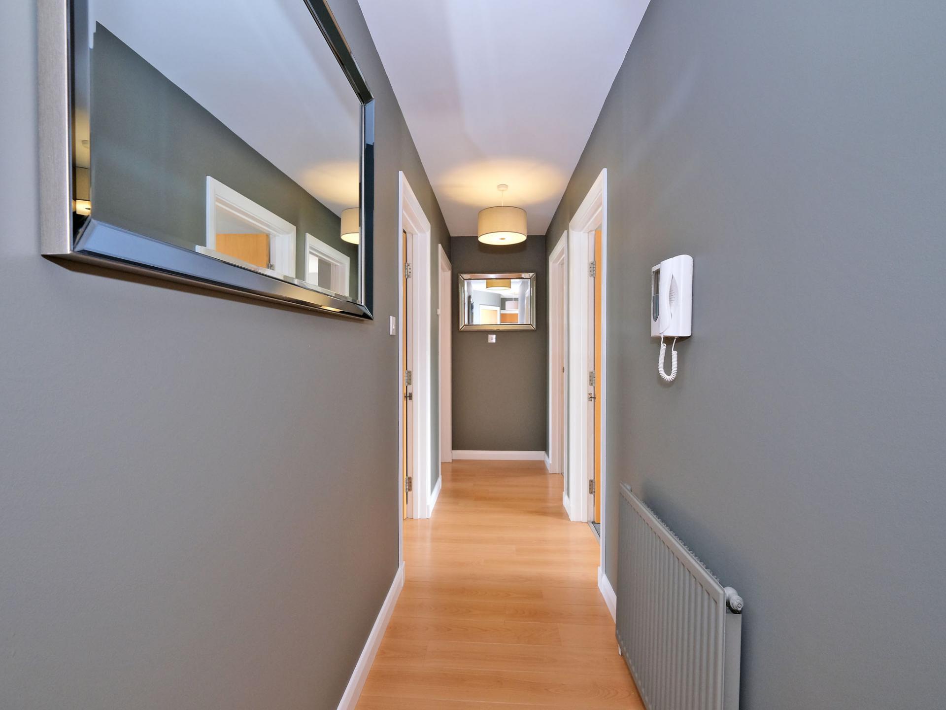 Hallway at Kepplestone Apartments, Mannofield, Aberdeen - Citybase Apartments