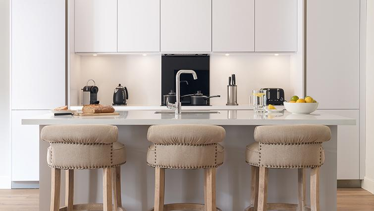 Fully equipped kitchen at The Rutland Residence - Citybase Apartments