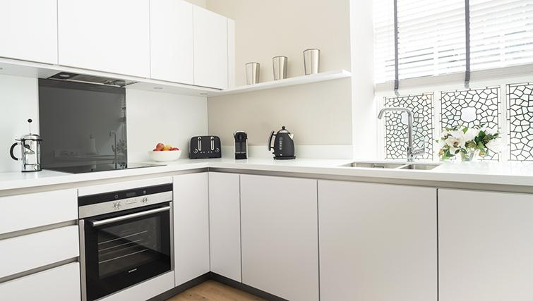 Furnished kitchen at The Rutland Residence - Citybase Apartments