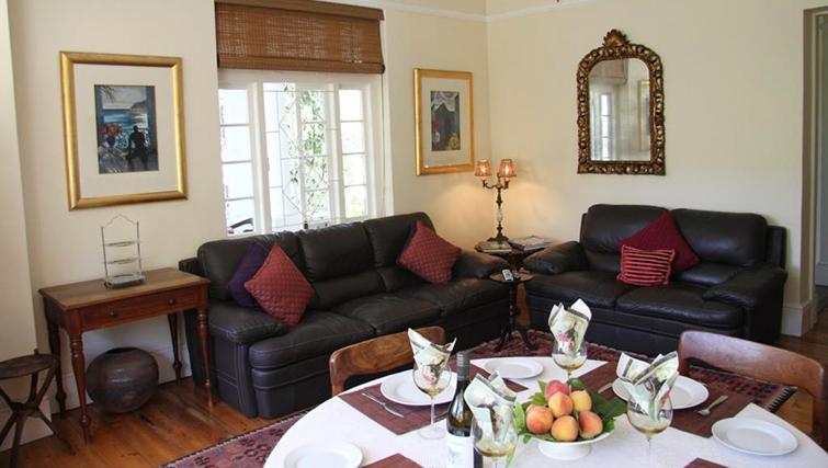 Sofa at 5 Camp Street Apartments - Citybase Apartments