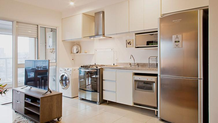 Kitchen at DNA Pinheiros by Q Apartments - Citybase Apartments