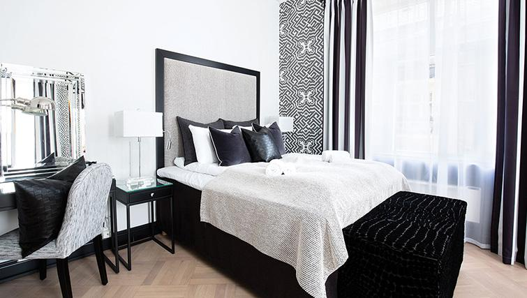 Double bed at Bygdoy Alle Apartments - Citybase Apartments