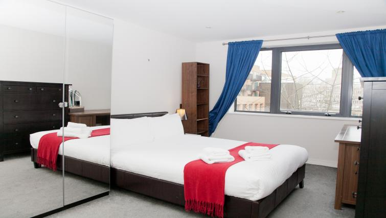 Comfy bedroom at Euston Apartments - Citybase Apartments