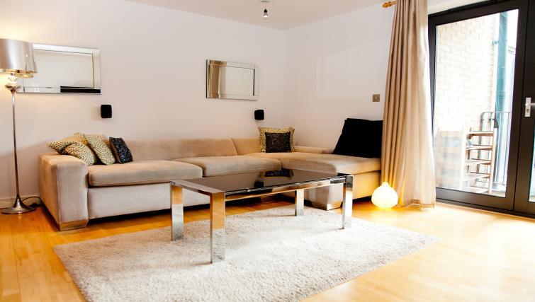 Spacious living area at Euston Apartments - Citybase Apartments