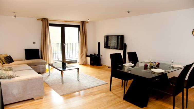 Living area at Euston Apartments - Citybase Apartments