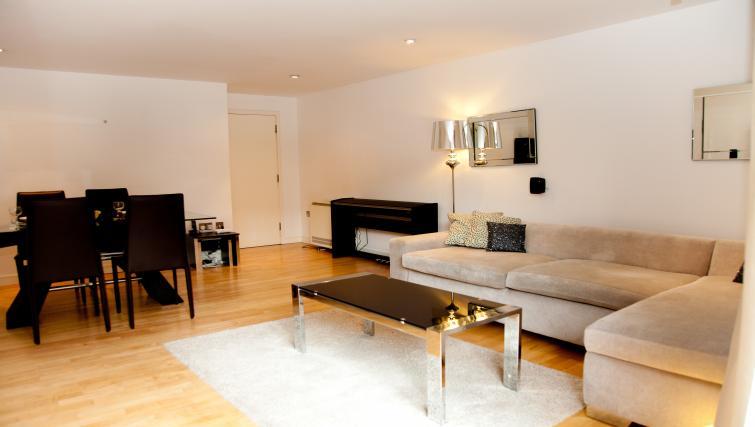 Modern living area at Euston Apartments - Citybase Apartments