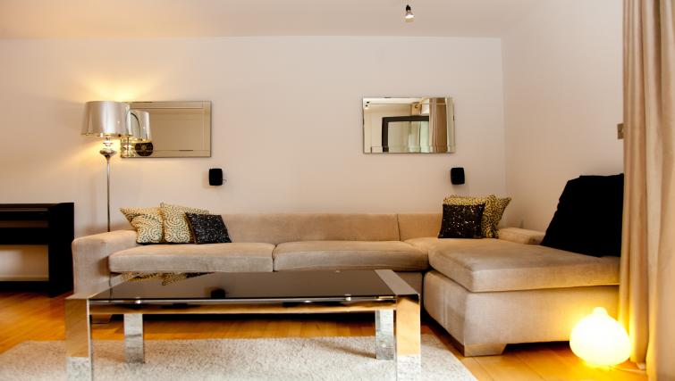 Bright living area at Euston Apartments - Citybase Apartments