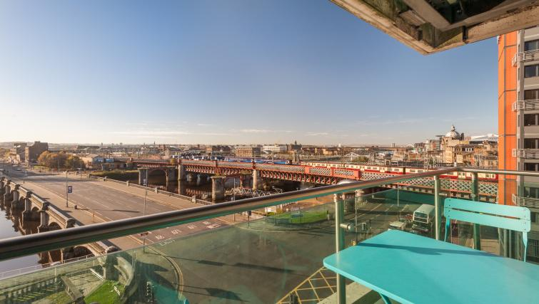 Balcony at Vantage Apartment - Citybase Apartments