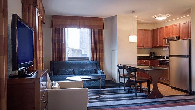 Living area at Residence Inn New York Manhattan/Times Square - Citybase Apartments