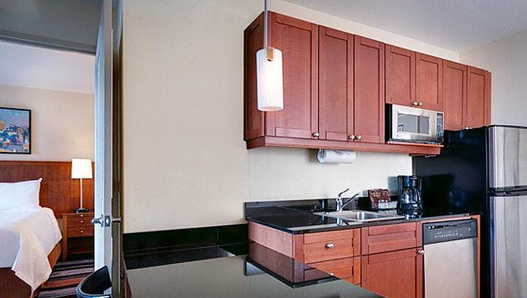 Kitchen at Residence Inn New York Manhattan/Times Square - Citybase Apartments